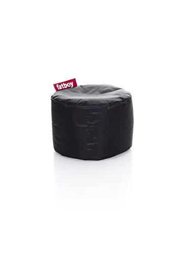 Fatboy® Point schwarz Nylon-Hocker | Runder Sitzhocker | Trendiger Poef/Fußbank/Beistelltisch | 35 x ø 50 cm