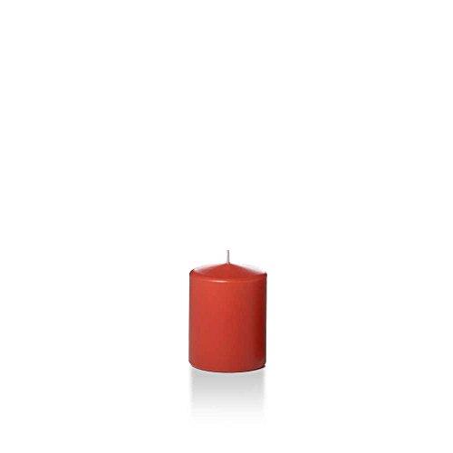 Yummi 2.25' x 3' Brick Slim Round Pillar Candles - 4 per Pack