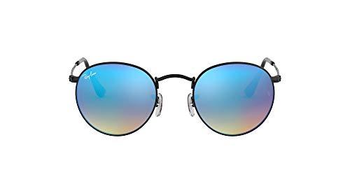 Ray-Ban Round Metal 002/4O Gafas de sol, Shiny Black, 53 para Hombre
