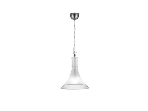Effen LED hanglamp met kegelvormige melkglazen scherm, 32cm klein