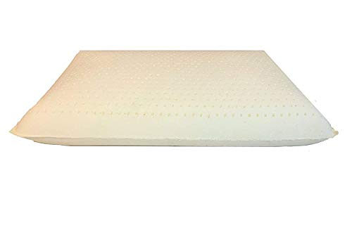 Low Profile Latex Foam Pillow, Low Height Organic Covering - Standard (Soft Standard)