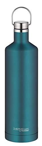 ThermoCafé by THERMOS Thermosflasche Traveler Bottle teal 750ml, Edelstahl Trinkflasche 100% dicht auch bei Kohlensäure, Isolierflasche 12 Stunden heiß, 24 Stunden kalt, BPA-Frei, 4070.255.075