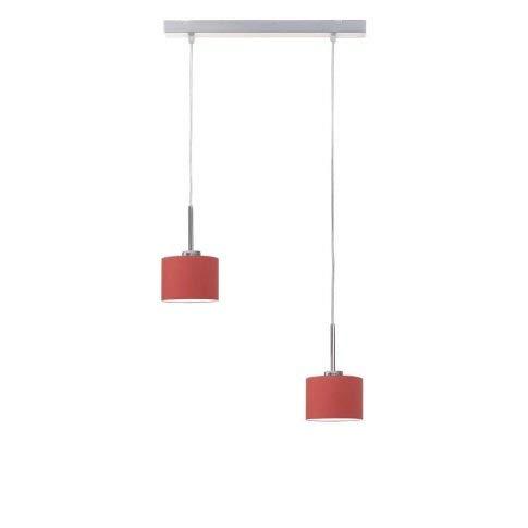 Lámpara de techo MONTANA pantalla de lámpara Rojo Marco Cromo