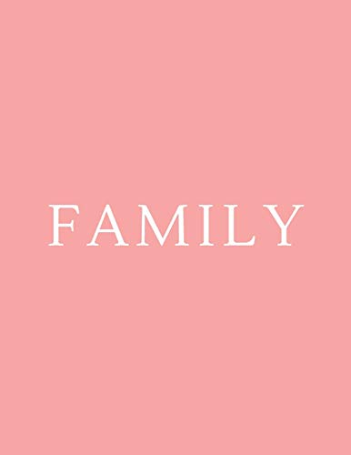 Family: A Decorative Book | Perfect for Coffee Tables, Bookshelves, Interior Design & Home Staging (Family Book Set - Pink, Band 2)