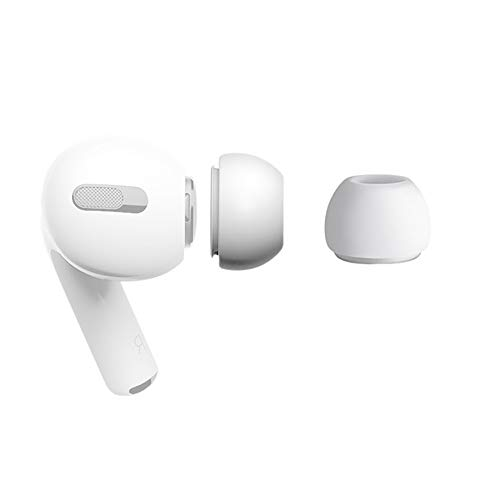 sciuU Almohadilla para Auriculares Compatible con Apple AirPods Pro, Funda Cubierta de Auriculares de Repuesto, Ear Tips de Silicona Suave Goma Accesorios - 1 par * Talla M