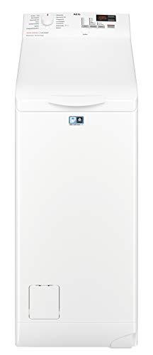 AEG L6TB41270 Waschmaschine / Energieklasse F / 7 kg / Toplader Waschautomat / ProSense Mengenautomatik / Startzeitvorwahl / Weiß