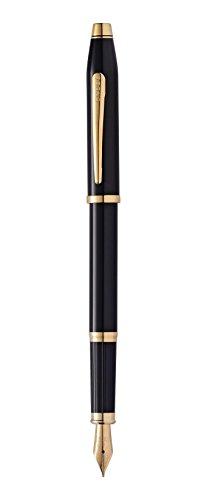Cross Century II - Pluma estilográfica con detalles en oro de 23 K, color negro