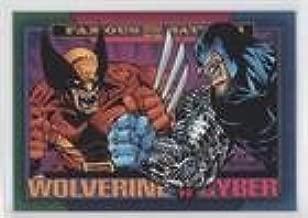 Wolverine vs Cyber (Trading Card) 1993 SkyBox Marvel Super Heroes - [Base] #161