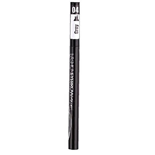 Trukorwuzi Tenencia de la Horquilla del lápiz de la ceja Impermeable Largo Duradero 4D Breve Tinto PENSOS Ojos MAQUILLO DE Ojo Gris Maquillaje Productos