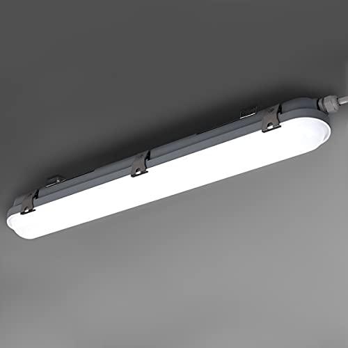 SBARTAR Lampada a LED per ambienti umidi (115 lm/w 120 cm, 40 W, 4600 lm, 3000/4000/6000 K) lampada da soffitto IP65, impermeabile, per garage, cantina, magazzino, bagno, officina, studio