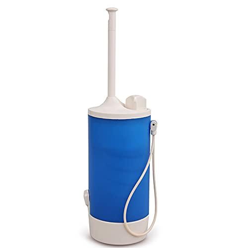 FVIWSJ Botella de bidé de Viaje, rociador de bidé portátil Bidé de Mano de 140 ml para higiene Personal, Almacenamiento, Bolsa de Viaje con Boquilla en ángulo