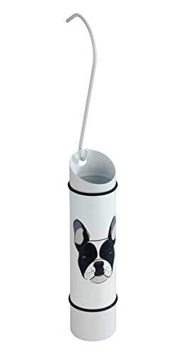 WENKO Luftbefeuchter, Wasserbehälter für Heizkörper, Luft Befeuchter Heizung, Edelstahl, Hund Motiv, 300ml Füllmenge