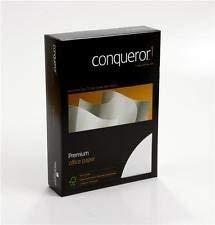Conqueror Premium-Papier, A4, diamantweiß gerippt, 500 Blatt (100 g/m²)