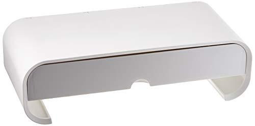 DeLock Monitorständer mit Schublade weiß, 18324
