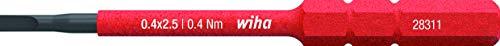 Wiha Bit slimBit electric Schlitz (34578) 2,5 mm x 75 mm für tiefliegende Schrauben, Allrounder für Elektriker