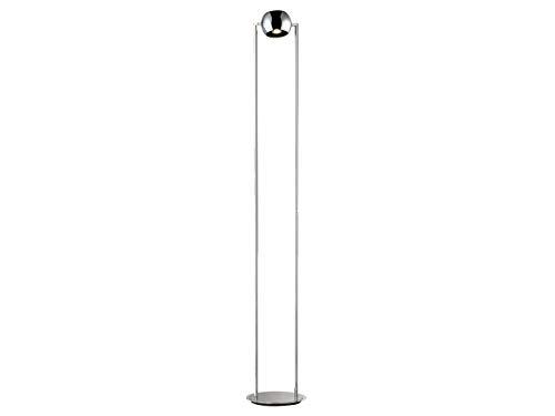 Moderne LED Stehleuchte SHINE-LED, Nicklel matt/Chrom, dimmbar, Höhe 187cm, Fischer-Leuchten