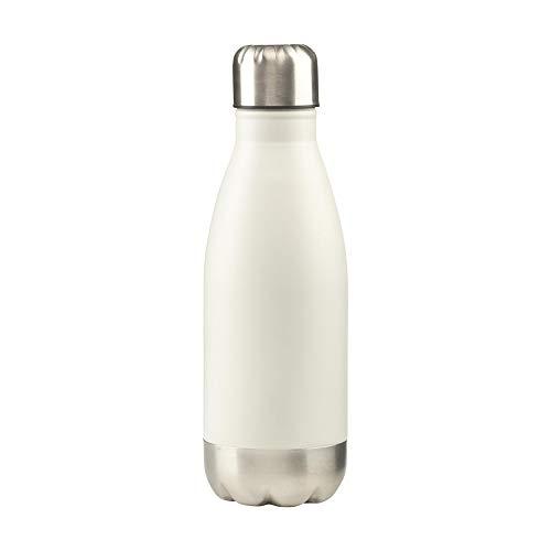 eBuyGB Bouteille Isotherme Isotherme pour Tasse à café 12 Heures, Mixte, Blanc, 350ml