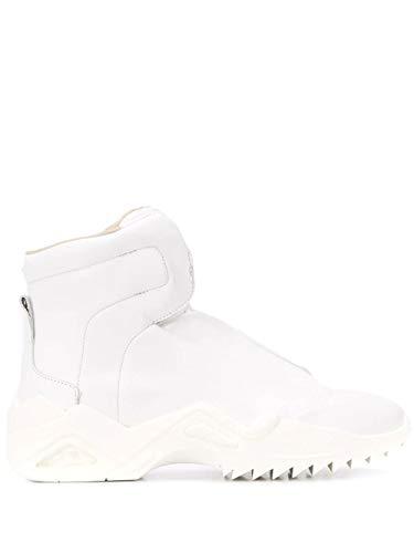 Maison Margiela Luxury Fashion Herren S57WS0287P2589H7341 Weiss Leder Hi Top Sneakers   Ss21