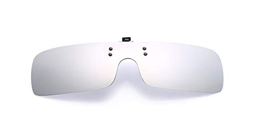 Flydo Men Mirrored Lens Rectángulo Clip en Gafas de Sol Polarizadas Mujeres-Elegantes y cómodos Clips Gafas de sol miopes para exterior/conducción/pesca