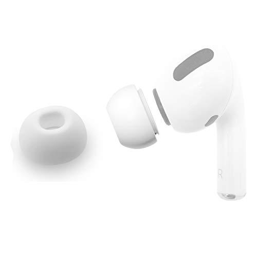 sciuU Silikon Ohrpolster Kompatibel mit Apple Airpods Pro, Ohrhörertips Ersatz Ohrhörer Earbuds Hülle, Silikon Soft Ohrhörer Pads Ohrpolster Ohrstöpsel Cover,Weiß,1 Paar * S
