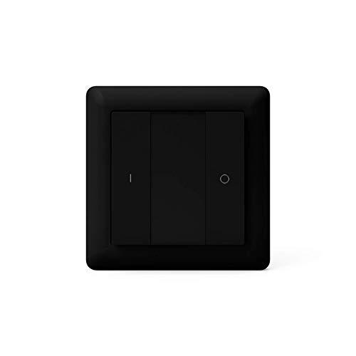 HeatIt - Telecomando da parete Z-Wave a due pulsanti, colore: nero
