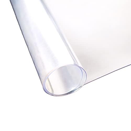 AWSAD Mantel Transparente, 2 Mm De Espesor Protector Mesa Transparente, Alfombrilla Antiincrustante Impermeable, De Oficina y De Escritorio (Color : Frosted-2mm, Size : 90x90cm)
