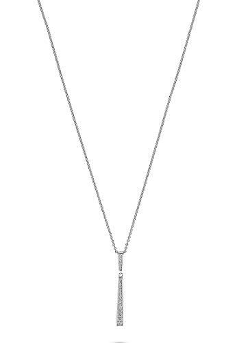 JETTE Silver Damen-Kette Tear 925er Silber 20 Zirkonia One Size 87745937