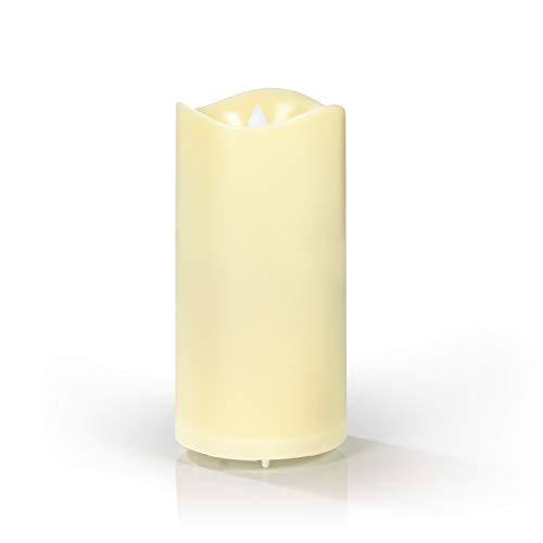EASYmaxx LED-Projektor Kerze | täuschend echter Kerzenschein | 4 Motive | kabellos [creme]