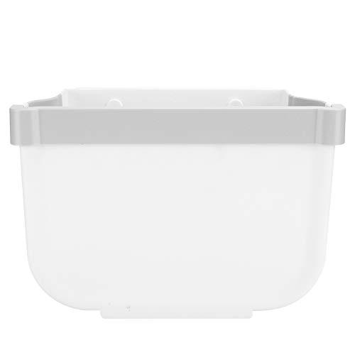 Papelera colgante plegable, diseño plegable de gran diámetro para colgar la basura de cocina, resistente a la abrasión y a la deformación para el hogar, la cocina y la oficina (trompeta blanca)