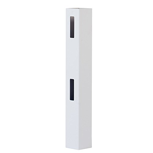 Outdoor Essentials White Vinyl 2-Rail Ranch Fence End Post, 5 in. x 5 in. x 5 ft.