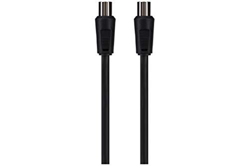 Maplin Aerial/TV Coax IEC Plug to Coax Socket Cable 2m