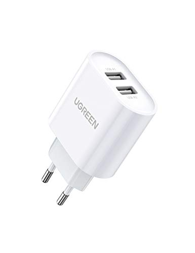 UGREEN 2 Cargador USB de pared 17W 5V 3.4A Cargador USB Enchufe...