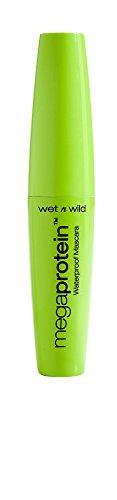 Wet n Wild Mega Protein wasserfeste Wimperntusche, Schwarz, 1 Stk. 8 ml