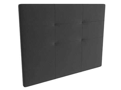 LA WEB DEL COLCHON - Cabecero tapizado Andrea para Cama de 150 (160 x 120 cms) Gris Oscuro Textil Suave