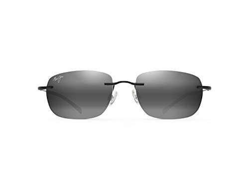 Maui Jim Unisex-Adult Nanea w/Patented PolarizedPlus2 Lenses Sunglasses, Gloss Black/Neutral Grey Polarized, Medium