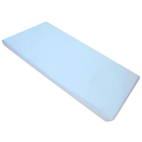 American Baby Company 100% Natural Cotton Percale Fitted Day Care Mat Sheet, Blue, 24 x 48 x 4, Soft Breathable, for Boys and Girls