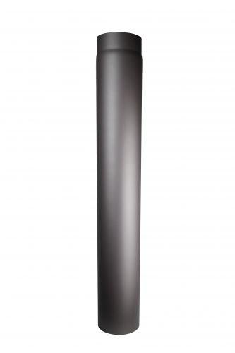 Ofenrohr aus 2 mm starken Stahl (Rauchrohr) in 120 mm Durchmesser, für Kaminöfen und Feuerstellen, Senotherm, dunkelgrau, 1000 mm lang