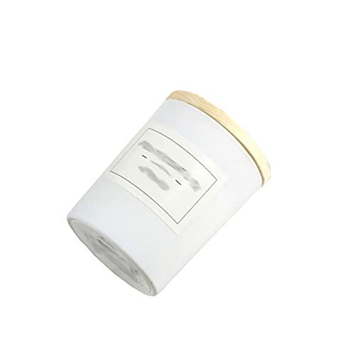 HFDJ Ambiente romántico Europeo Aroma Vela de Soja Regalo de cumpleaños de Vidrio con candelabro de Mano para no Fumadores con Tapa de Madera (5 Palos)