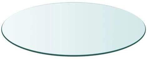 Tapa de Cristal para Mesa Redonda en Varias Medidas con Forma Circular Vidrio (Redondo 110 cm)