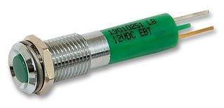 CML INNOVATIVE TECHNOLOGIES 19010251 Panel Mount Indicator, LED, 8MM, Green, 12V