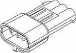 Automotive Connectors 3P MALE BLACK Cheap mail order sales 280 AMPS piece 30 gift 50 SERIES