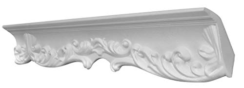 DECOSA Zierprofil G40 GIUSEPPINA - 5 Leisten à 2 m Länge = 10 m - Edle Stuckleiste in Weiß - Zierleiste aus Styropor 55 x 85 mm - Für Decke oder Wand