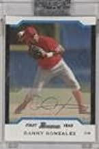 Danny Gonzalez Manufacturer ENCASED Uncirculated #150/245 (Baseball Card) 2004 Bowman - [Base] - Uncirculated Silver #219