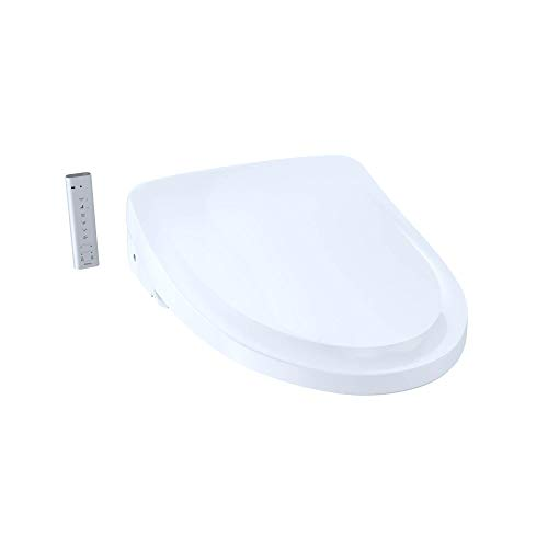 TOTO SW3054T40#01 S550e Elongated Bidet ewater+ and Auto Open and Close Classic Lid, White-SW3054T40 Toilet Washlet Seat, Cotton White