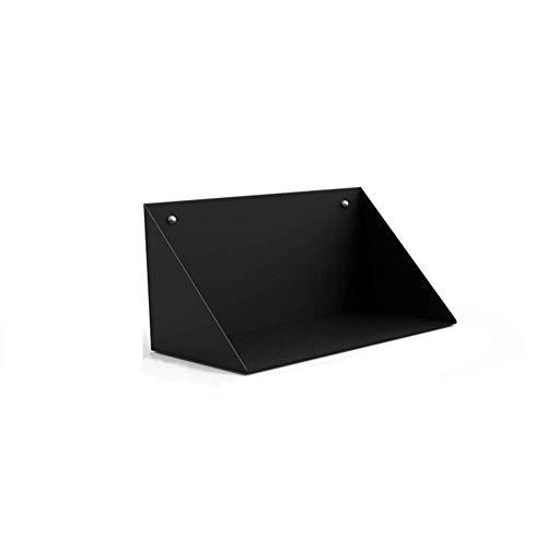 LQH Blanco y Negro cúbico Flotante Ledge CD Rack de Almacenamiento de DVD Juguete Soporte de exhibición, 30 * 15 * 15cm