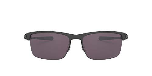 Oakley Men's OO9174 Carbon Blade Rectangular Metal Sunglasses, Matte Satin Black/Prizm Daily Polarized, 66 mm