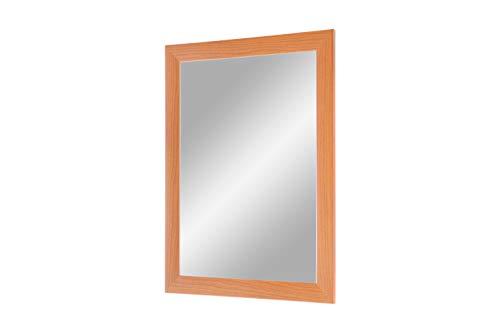 Flex 35 - Wandspiegel 100x30 cm mit Rahmen (Kirschbaum), Spiegel nach Maß mit 35 mm breiter MDF-Holzleiste - Maßgefertigter Spiegelrahmen inkl. Spiegel und stabiler Rückwand mit Aufhängern