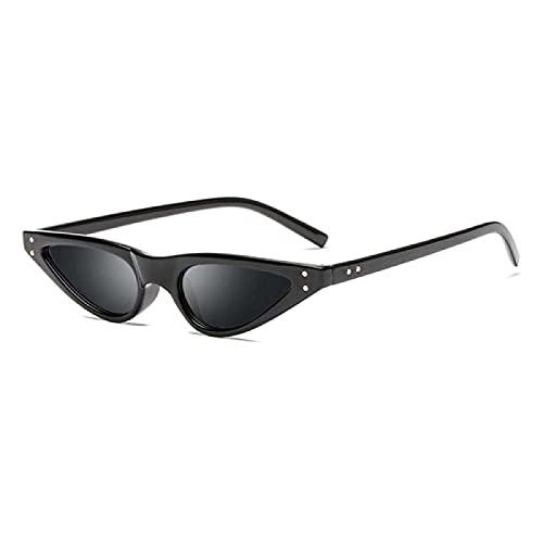 WANGZX Gafas De Sol Triangulares Pequeñas con Forma De Ojo De Gato Uv400 Gafas con Remaches Gafas De Sol De Moda Gafas De Conducción para El Conductor Negrogris