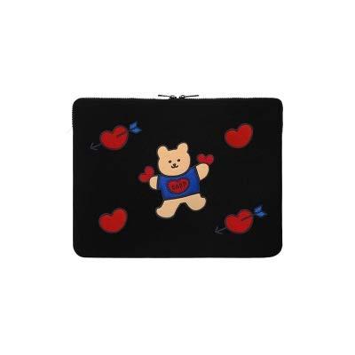 Neaer Funda para tableta, diseño de oso con bordado de oso con bordado de mano para tableta, iPad, portátil de 11/13/15 pulgadas, bolsa interior de almacenamiento para tablet (color: 15 pulgadas 2)