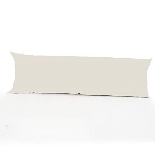 Clicktostyle Kissenbezug, pflegeleicht, Doppelbettgröße, 137 cm x 50 cm, Baumwollmischgewebe, in 20 Farben erhältlich, silber, 54 Inches x 19 Inches